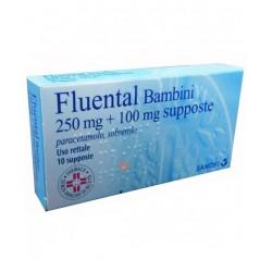 Sanofi Spa - Fluental Bb10supp250mg+100mg - 022837049