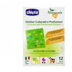 Chicco - Chicco Natural Sticker Colorati e Profumati 12 Pezzi - 976395881