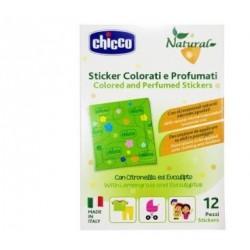 Chicco - Chicco Natural Sticker Colorati e Profumati 12 Pezzi - 976395881