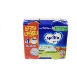 Mellin - Mellin Omogeneizzato Vitello 4 Vasetti X 80g - 927463149