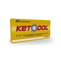 Alfa Wassermann - KETODOL 20 COMPRESSE 25MG+200MG - 028561037