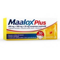 Sanofi Spa - MAALOX PLUS 50COMPRESSE MASTICABILI - 020702344