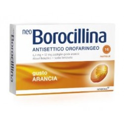 ALFASIGMA - NEOBOROCILLINA ANTISETTICO ORALE 16PASTIGLIE ARANCIA - 004901219