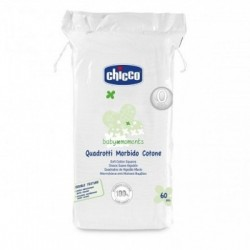 Chicco - Chicco Baby Moments Quadrotti Morbido Cotone 60 Pezzi - 922264116