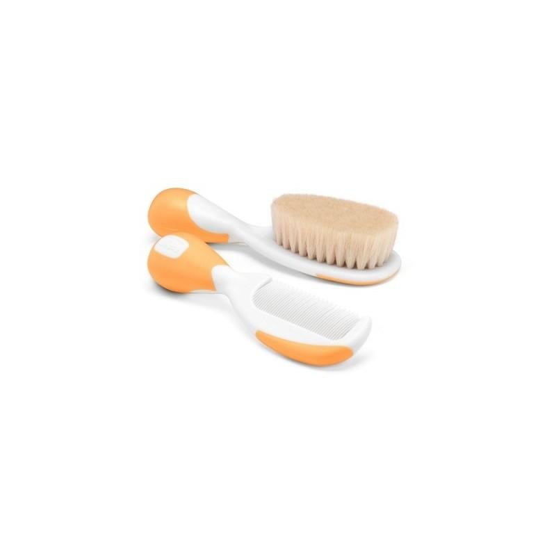Chicco - Chicco Spazzola e Pettine Arancione - 924729369