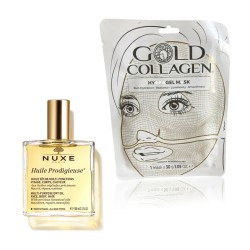 Nuxe - 1 Olio nuxe 100 ml + 1 Gold Collagen Hydrogel Mask 30g - 99669966