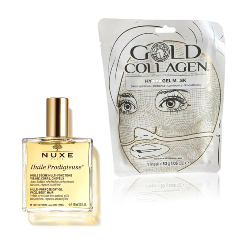 1 Olio nuxe 100 ml + 1 Gold Collagen Hydrogel Mask 30g